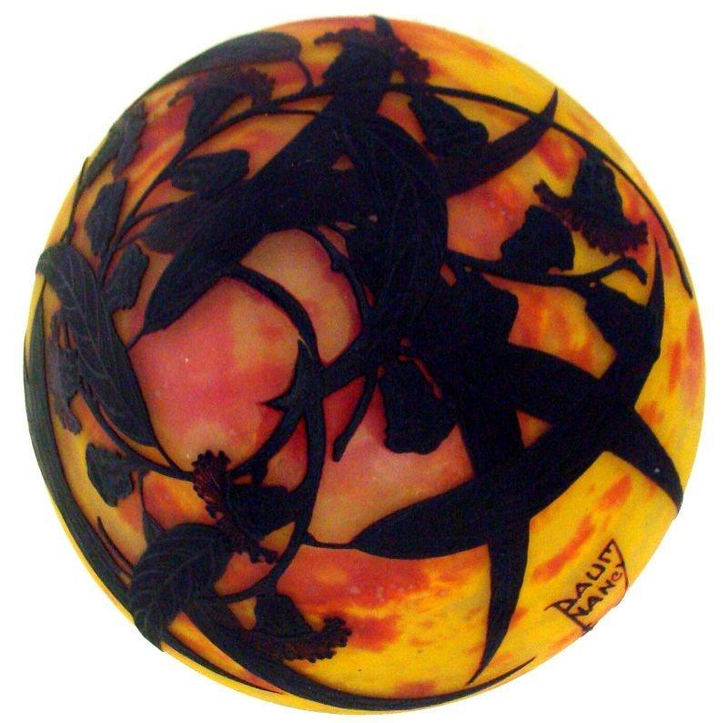 710: Daum Nancy Art Glass Cameo Lamp - 6