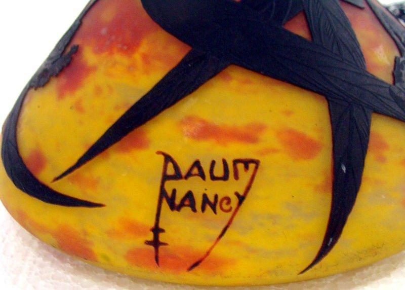 710: Daum Nancy Art Glass Cameo Lamp - 7
