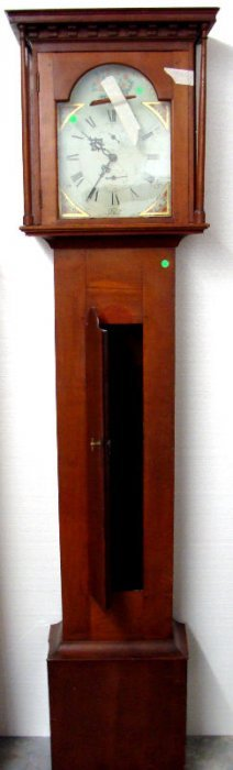 Antique English Cherrywood Grandfather Clock
