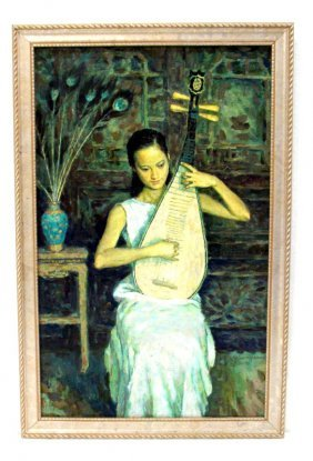 609A: Xie Yuan Huang Oil Painting On Canvas