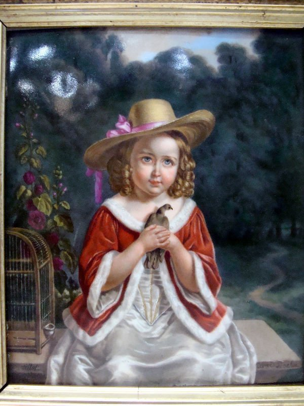 1: European Porcelain Plaque Of A Child - 2