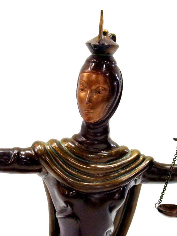 "12: Erte Bronze ""Justice"" Sculpture - 2"