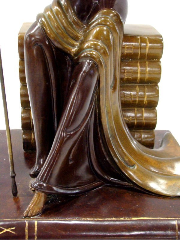 "12: Erte Bronze ""Justice"" Sculpture - 4"