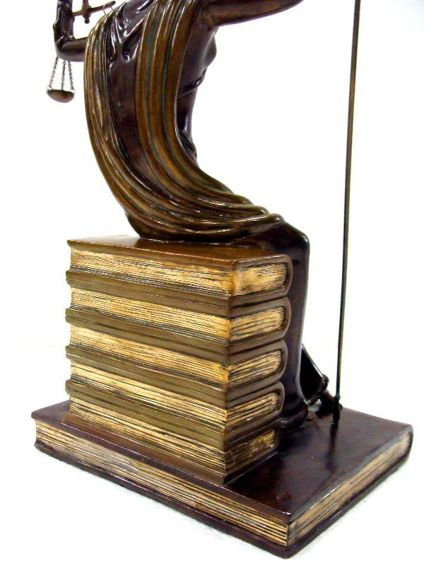 "12: Erte Bronze ""Justice"" Sculpture - 6"