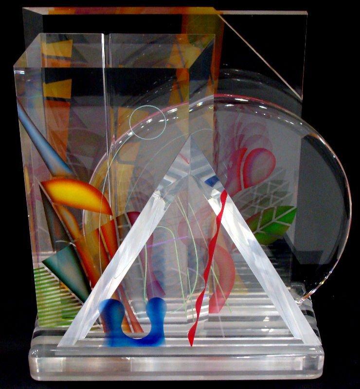 15: Ginsburg Acryllic Art Glass Sculpture