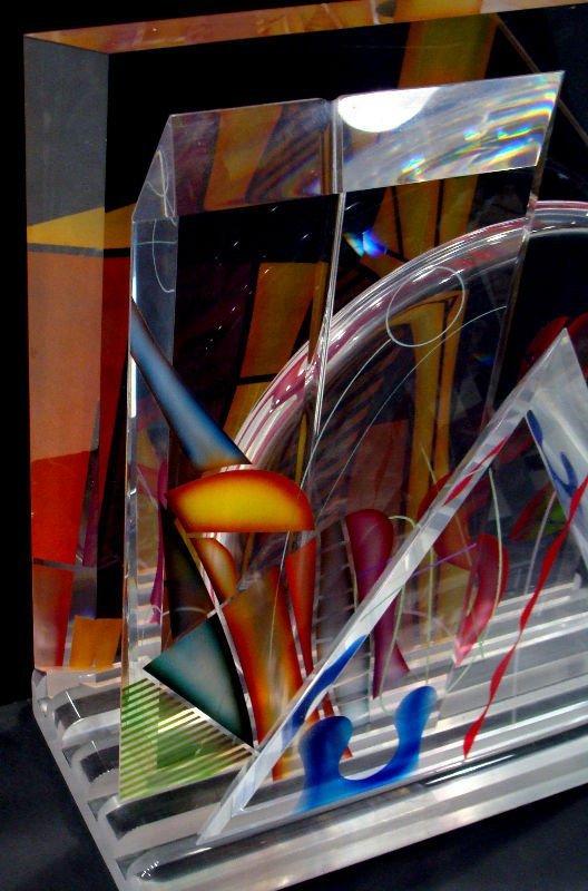 15: Ginsburg Acryllic Art Glass Sculpture - 2