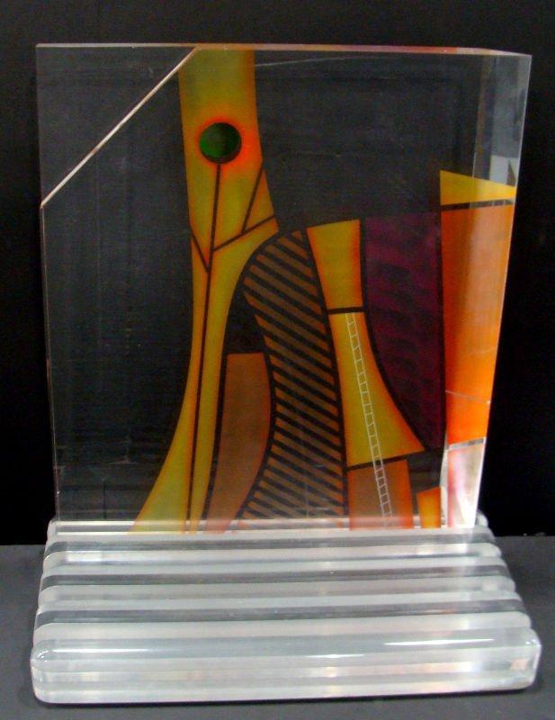 15: Ginsburg Acryllic Art Glass Sculpture - 4
