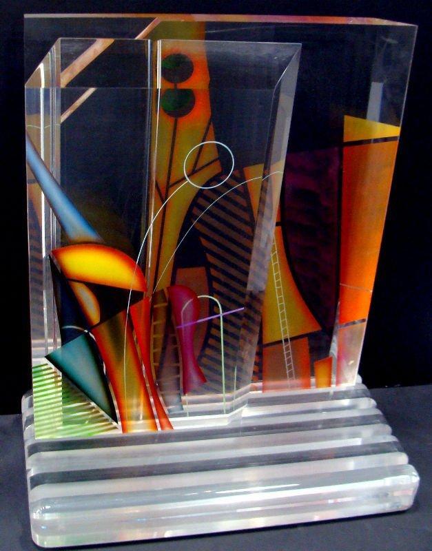 15: Ginsburg Acryllic Art Glass Sculpture - 5