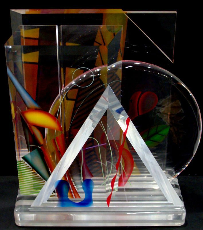 15: Ginsburg Acryllic Art Glass Sculpture - 8