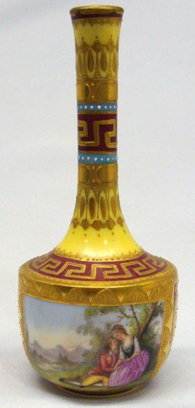 18: Royal Vienna Hand Painted Porcelain Bud Vase