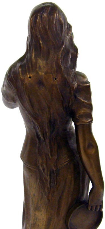 "19: Antique French Bronze ""Mignon"" Signed Pierre Oge - 5"