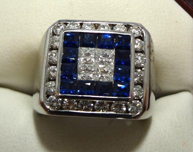 10A: 18 Kt. W.G. Men's 1.50 ct. Diamond Ring