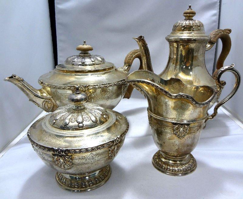 English London Silver 4 Piece Tea Set