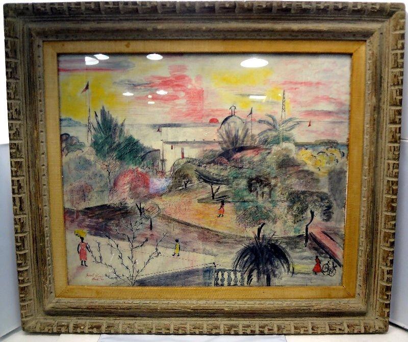 Robel Paris Mixed Media Haitian Painting