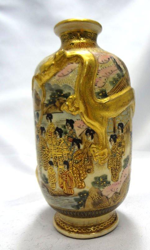 Antique Satsuma Miniature Vase