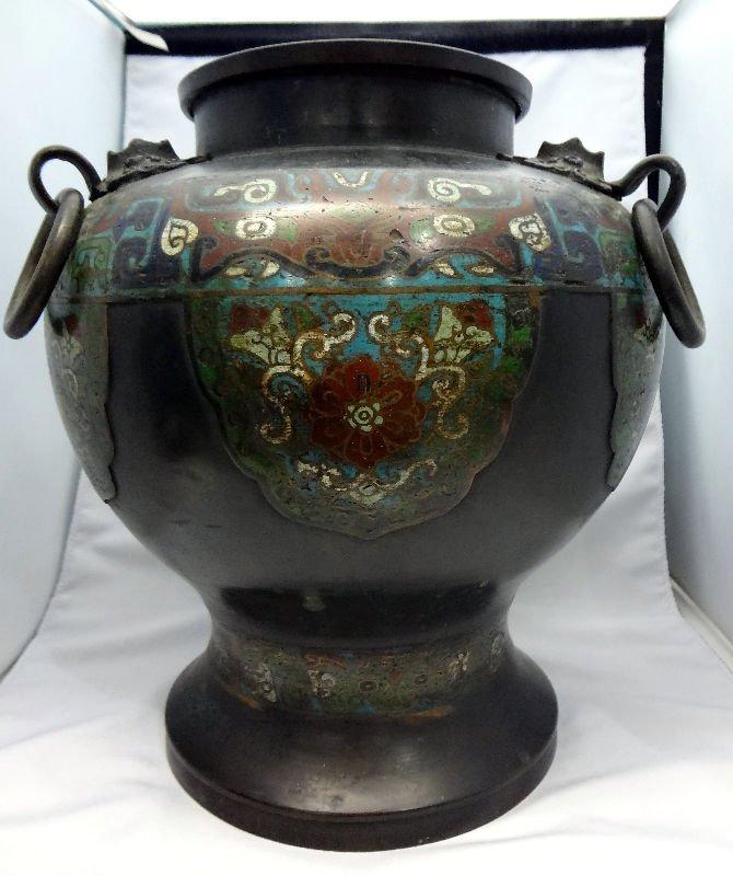 Antique Cloisonne Footed Vase