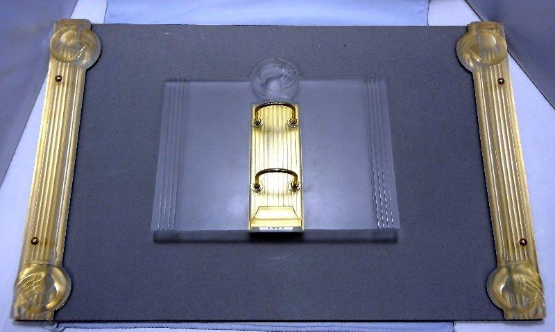 2 Pc. Lalique Crystal Josephine Desk Set - Calendar & D