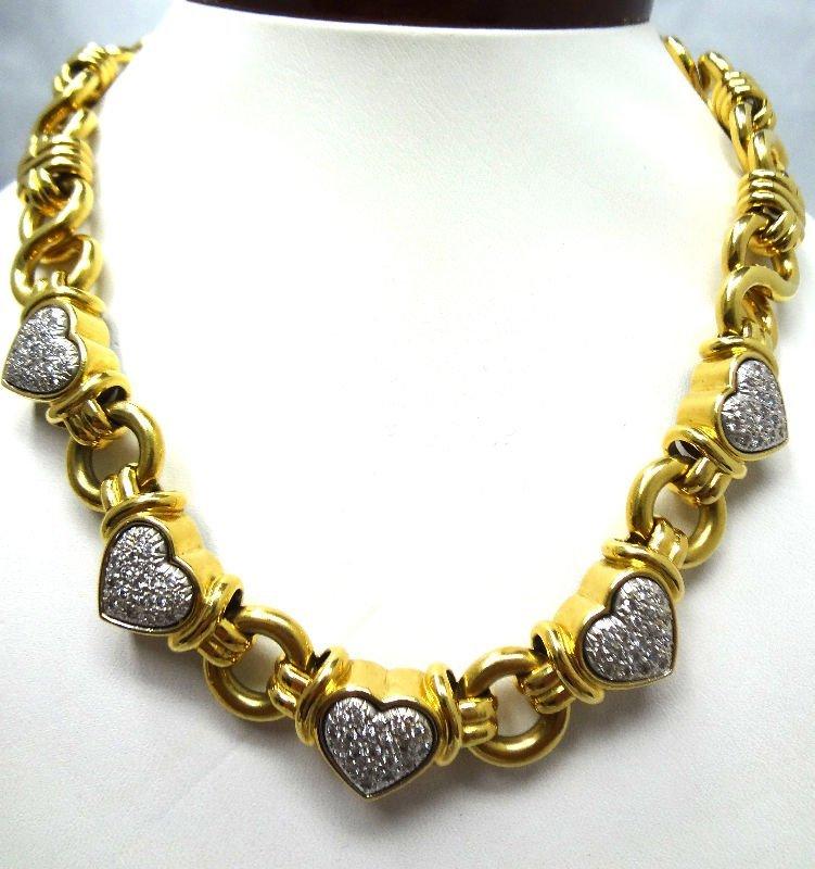 18 Kt. Y.G. 2.0 ct Diamond Necklace