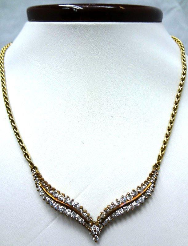 14 Kt. Y.G. 2.0 ct Diamond Necklace