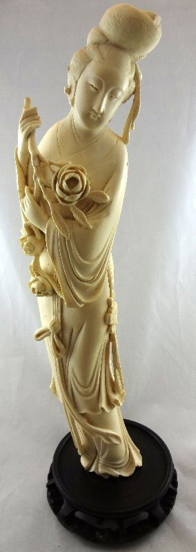 Chinese Carved Ivory Figure Quan Yen