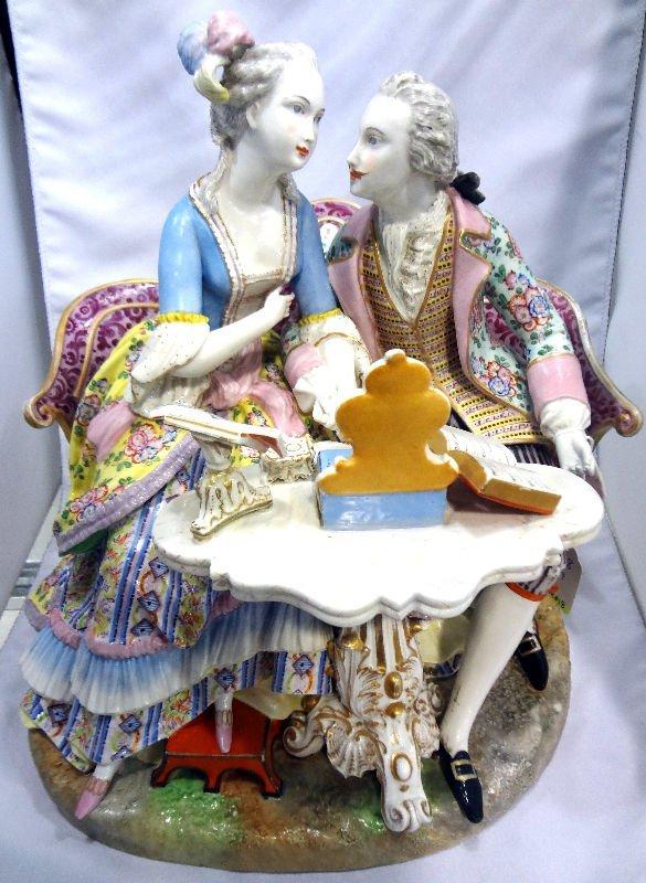 Meissen Porcelain 2 Figure Group