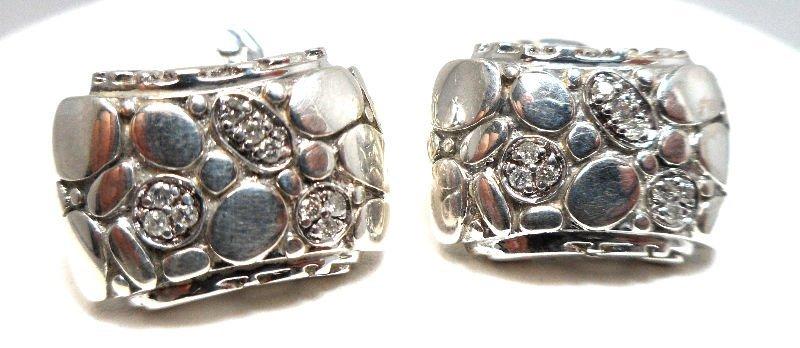 Fine Contemporary Diamond Cufflinks By John Hardy