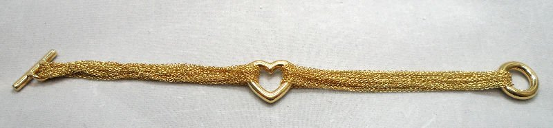 Fine Contemporary 18K Tiffany & Co Heart Bracelet 16.56