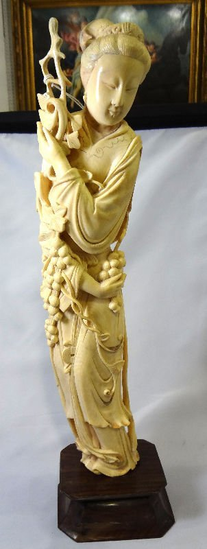 Large Antique Chinese Carved Ivory Figure