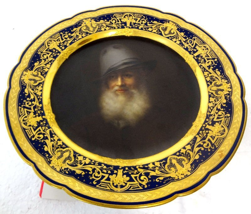 Royal Vienna Hand-Painted Portrait Plate