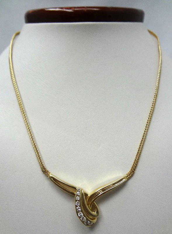 14Kt Y.G. Approx 1.0ct Diamond Necklace