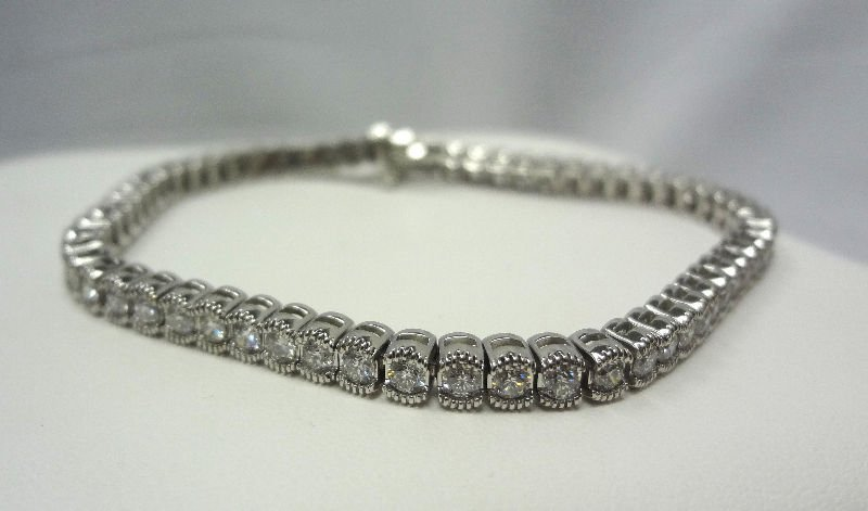 14Kt W.G. Approx 1.75ct Diamond Tennis Bracelet