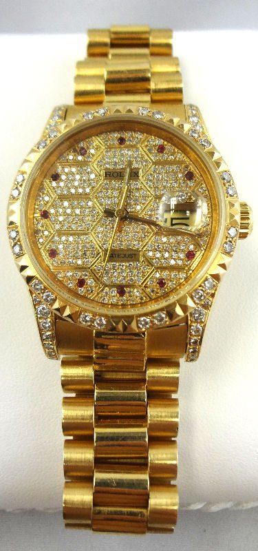 18Kt YG Rolex Men Presidential Watch