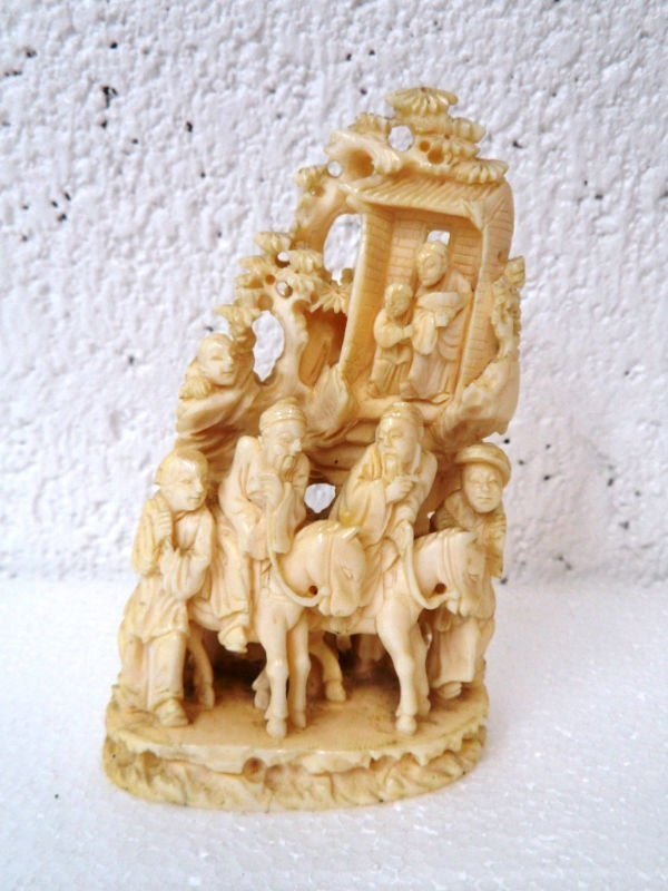 Chinese Carved Ivory Group