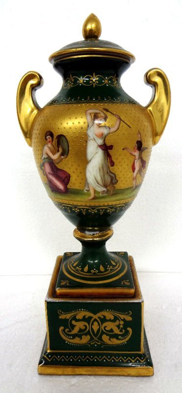 Royal Vienna Porcelain 2-Handled Covered Urn