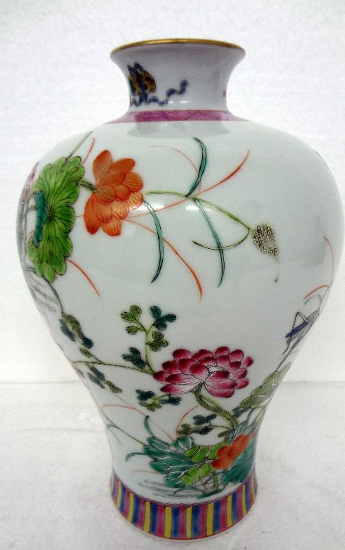 Antique Chinese Porcelain Floral Vase