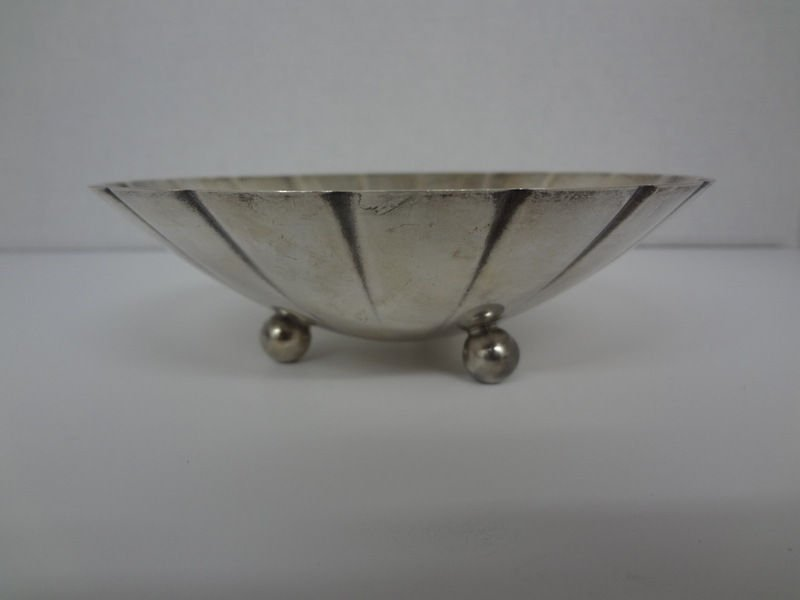 Tiffany & Co. Sterling Footed Silver Bon Bon Bowl
