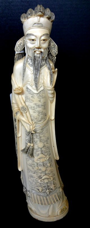 Antique Chinese Carved Ivory Elder Figure