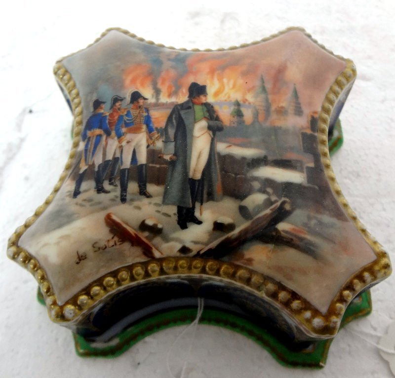 Napoleon Hand Painted Covered Box