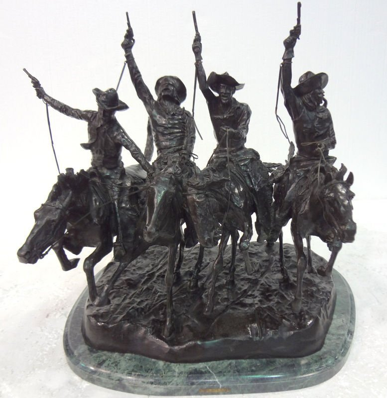 "Frederic Remington ""Coming Through The Rye"" Bronze"