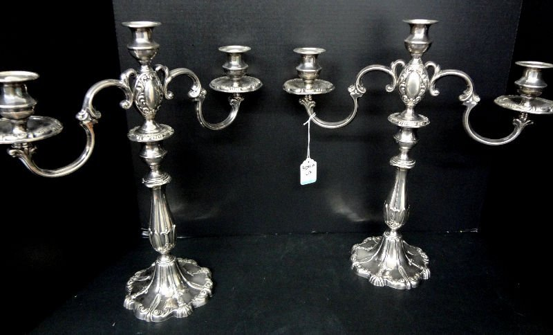 925 Sterling Silver Weighted Candelabras