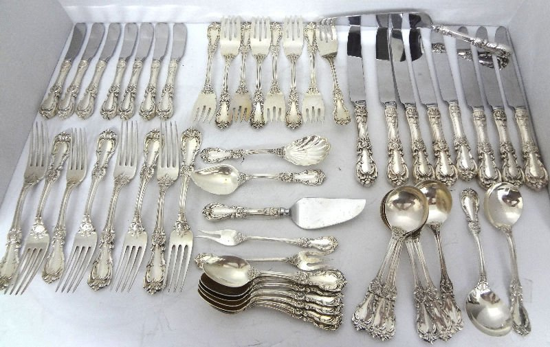 53 Pc. Reed & Barton Burgundy Sterling Silver Flatware
