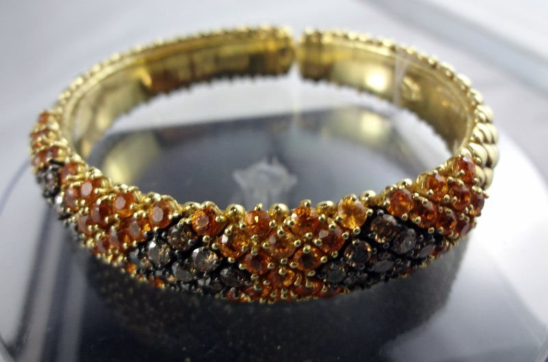 18Kt YG 1.25ct Diamond Yellow Garnet Bracelet