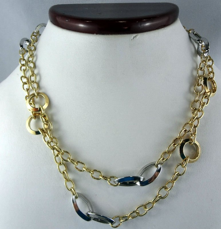 14Kt 2-Tone Chain Necklace