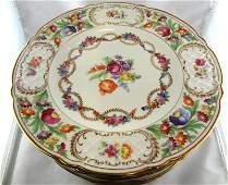 Set of 12 Schumann Bavaria Hand Painted Dinner Plates