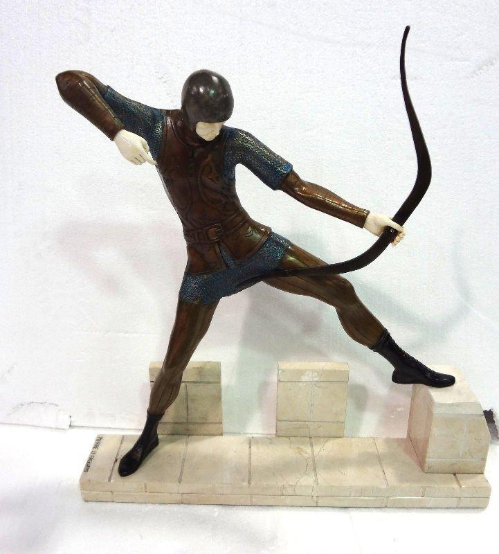 After Pierre Le Faguays Bronze & Ivory Figure