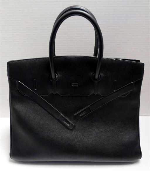 a9f9fa1a1d Hermes Shadow Birkin bag 35 Black Evercalf Leather