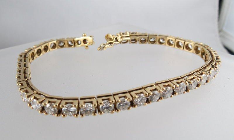 14Kt YG 9.0ct Diamond Tennis Bracelet