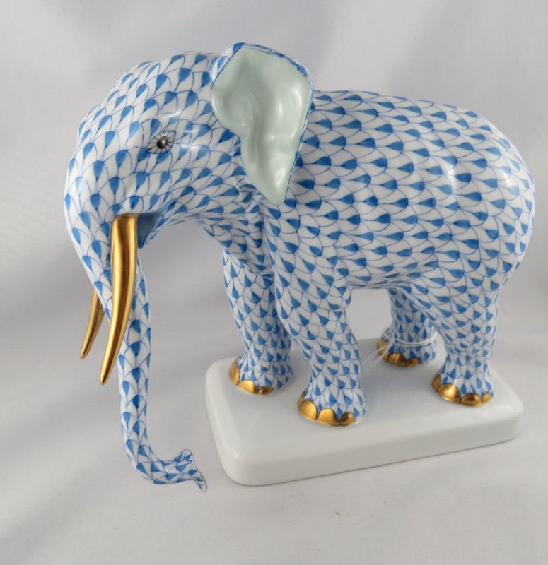 Beautiful Herend Porcelain Elephant