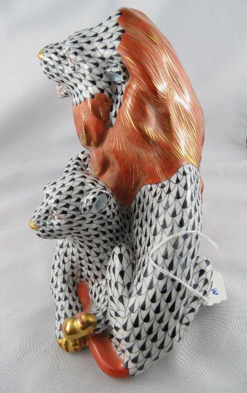 Stunning Herend Porcelain Lion Group - 5