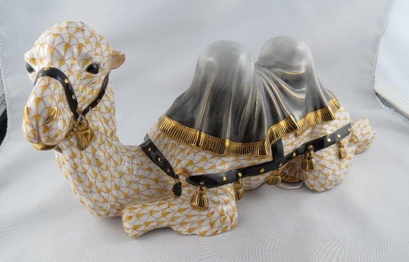 Herend Porcelain Figure of Camel